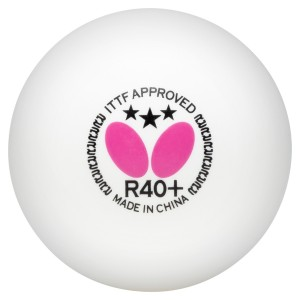 Butterfly 3 Star R40+ Table Tennis Balls - 3 Pack