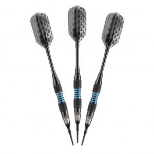 Bobcat Soft Tip Darts Black - Adjustable 16-18gm